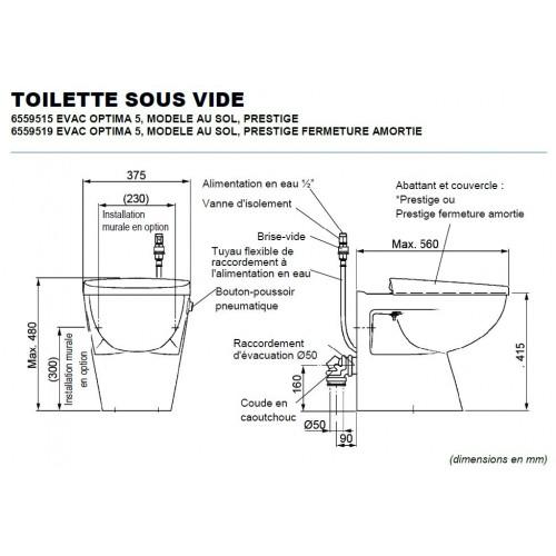 Evac- Optima 5 - Toilettes sous vide