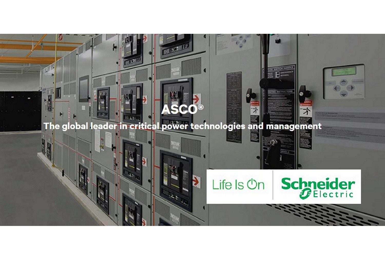 Schneider Electric renforce sa position sur son coeur de métier en basse tension avec l'acquisition d'ASCO Power Technologies