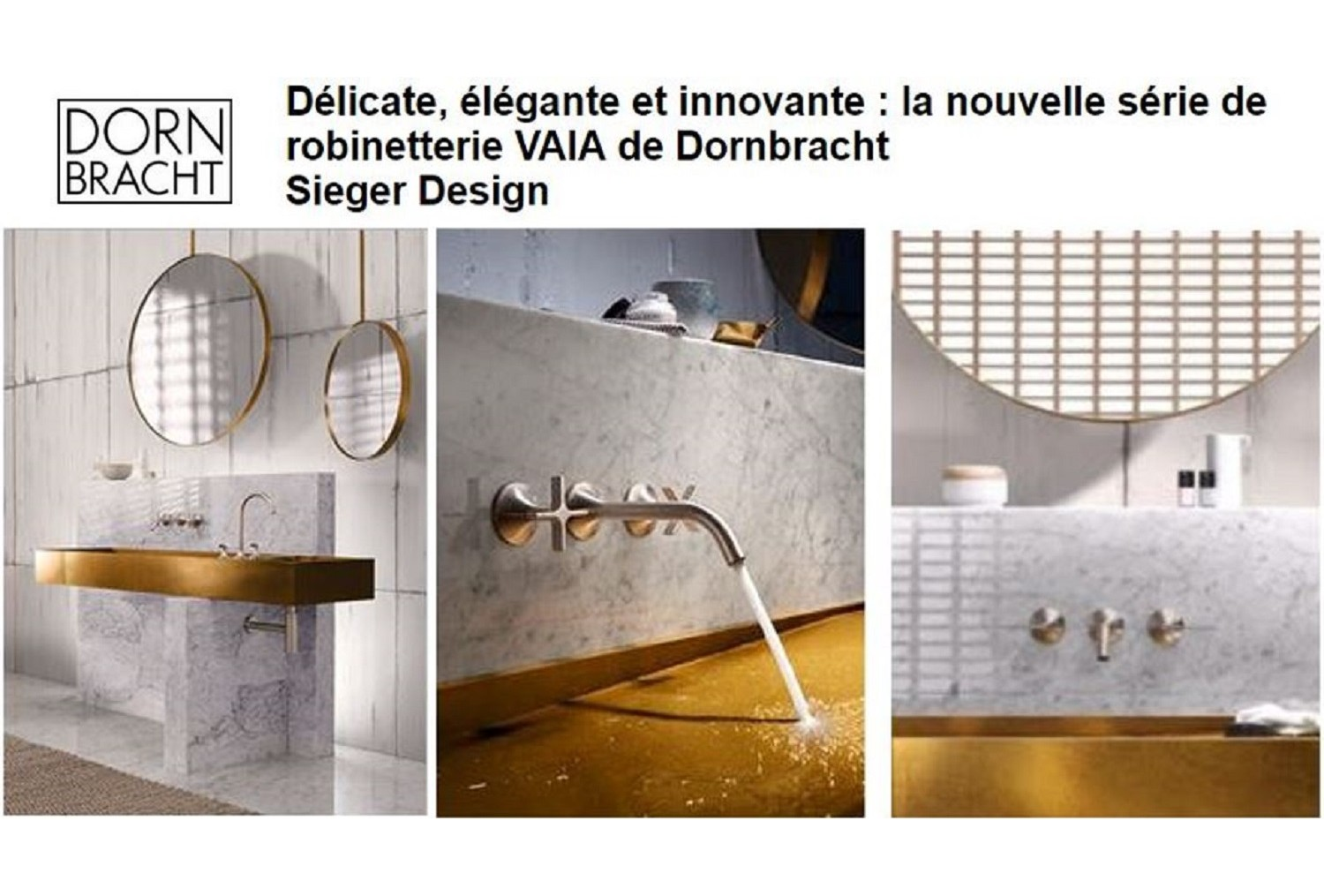 Dornbracht vous invite sur le salon Architect@work Paris