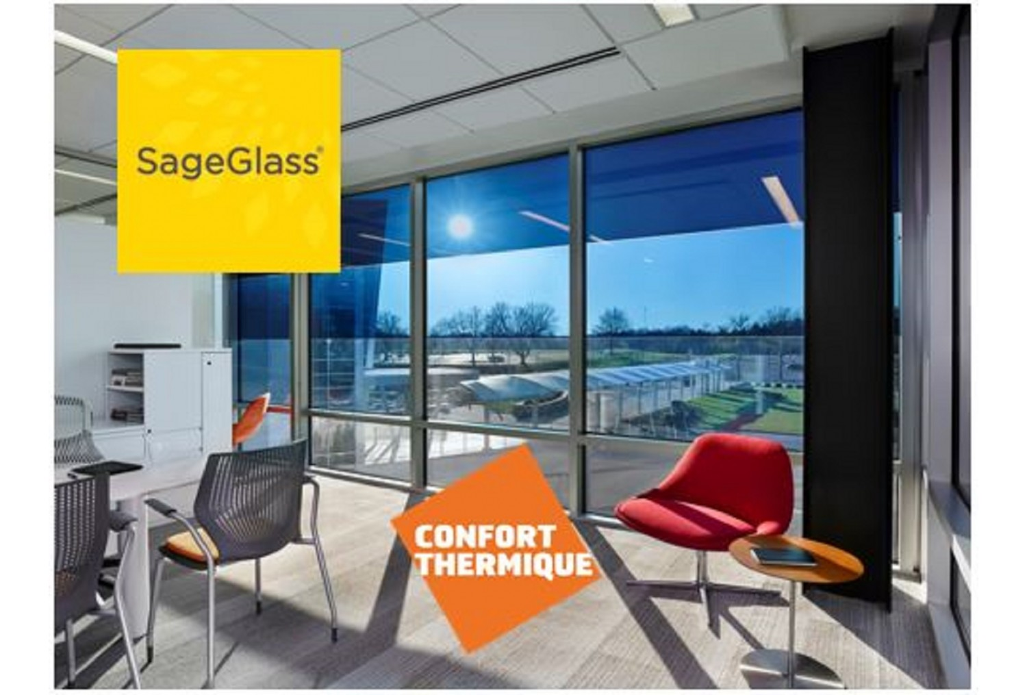 SAGEGLASS : Vitrage dynamique à teinte variable, Innovation Batimat
