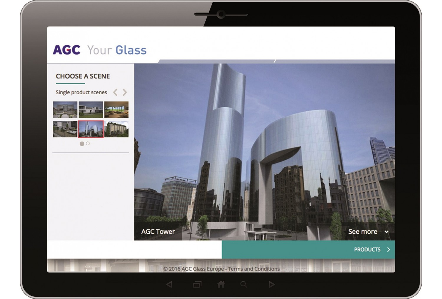 Nouvelle application AGC : l'Architectural Glass Visualiser